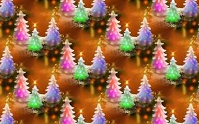 Обои Новый год, текстура, фон, свеча, праздник, ёлочка