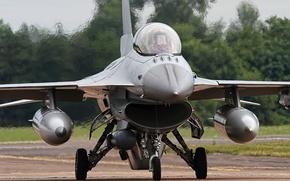 Картинка истребитель, кабина, F-16, Fighting Falcon, «Файтинг Фалкон»