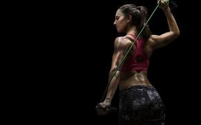 Обои elastic band, workout, transpiration, fitness