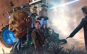 Картинка фантастика, мальчик, руки, Doctor Who, Доктор Кто, Daleks, Далеки, Peter Capaldi, Питер Капальди, Двенадцатый Доктор, …