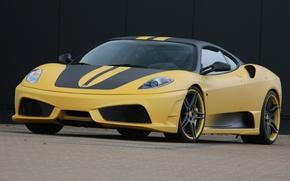 Обои Дорога, Машина, Желтая, Ferrari, F430 Scuderia 747 Edition