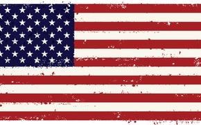 Обои красный, флаг, U.S.A., соединённых штатов америки, белый, полосы, США