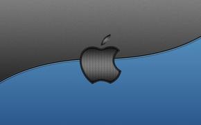 Картинка компьютер, серый, голубой, Apple, текстура, линия