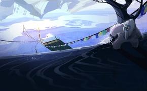 Картинка снег, природа, прятки, домик, house, nature, snow, йети, autumn award Steam, осенняя премия Стим, Bigfoot, …