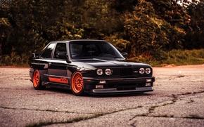 Картинка BMW, black, E30