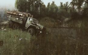 Обои spin tires, Открытый мир, SPINTIRES, Симулятор, Бездорожье, Урал