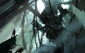 Картинка Art, Portal 2, Chell, GlaDOS