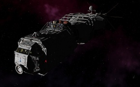 Картинка Space, render, stars, ship