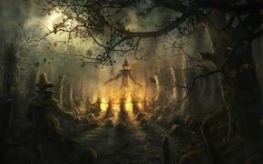 Обои тыквы, Halloween, Хэллоуин