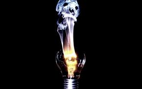 Картинка лампочка, спираль, дух