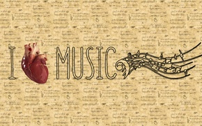Картинка минимализм, любовь, музыка