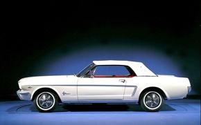 Картинка Mustang, Ford, Фото, Ретро, Машина, Форд, Старое, Мустанг, Car, Автомобиль, Beautiful, Тачка, Wallpapers, 1964, Photo, …