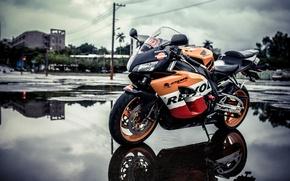 Картинка дизайн, фон, мотоцикл, Honda