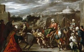 Картинка картина, мифология, Antonio del Castillo y Saavedra, Триумф Иосифа в Египте
