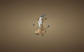 Картинка спокойствие, козел, минимализм, рога, борода, будда, goat