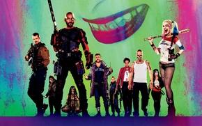 Картинка katana, slipknot, Will Smith, Jared Leto, harley quinn, enchantress, Jai Courtney, Warner Bros. Pictures, President, …
