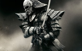 Картинка фон, доспехи, воин, маска, мечь, 47 Ronin, О-ёрой, 47 ронинов
