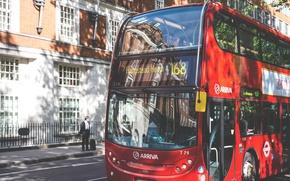 Обои classic, bus, red, London