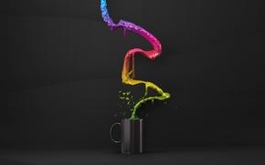 Картинка стакан, креатив, минимализм, кружка, creative, cup, liquid, жидкости
