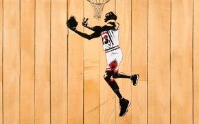 Обои NBA, Доски, Майкл Джордан, Баскетбол, Chicago Bulls, Белый, Michael Jordan, Кольцо, Мяч