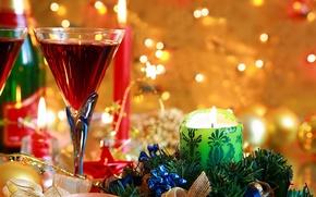 Картинка бокал, новый год, подарки
