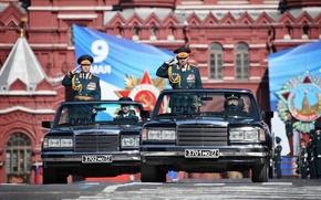 Картинка праздник, парад, Россия, 9 мая, ЗИЛ, Парад Победы, Красная Площадь, Министр обороны, Шойгу