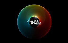 Картинка цвет, сфера, colorful universe