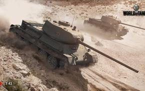 Картинка грязь, танк, World of Tanks, Wargaming.net, Т-43, пил
