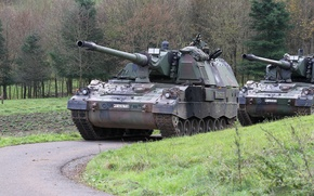 Картинка Германия, военная техника, самоходная артиллерийская установка, Krauss-Maffei Wegmann, PzH 2000 (Panzerhaubitze 2000)
