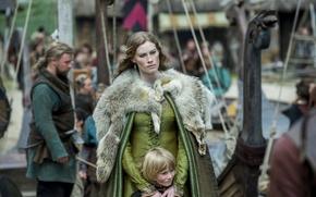 Обои Aslaug, Викинги, Vikings, ребенок, Alyssa Sutherland