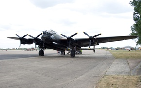 Картинка бомбардировщик, вторая мировая война, четырехмоторный, Avro Lancaster