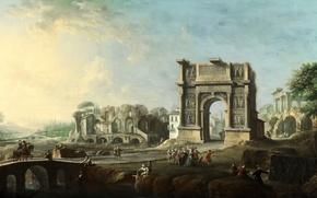 Обои пейзаж, картина, Антонио Джоли