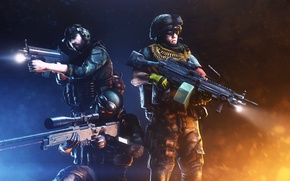 Обои оружие, battlefield 3, Sniper, солдаты