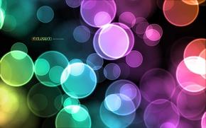Обои пузыри, цветные, design