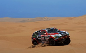 Картинка Песок, Авто, Спорт, Пустыня, Машина, Гонка, Опель, Opel, Rally, Dakar, Дакар, Внедорожник