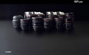 Картинка техника, объектив, черная, Canon, линзы, серия L