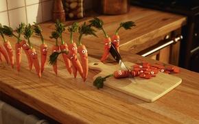 Обои убийство, радость, морковка, кухня