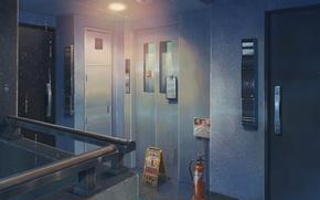Картинка Аниме, Двери, Лифт, Макото Синкай, Anime, Wallpaper, Room, Помещение, Обои На Рабочий Стол, Doors, The …