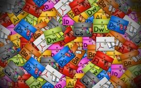 Картинка Photoshop, Adobe, Bridge, Illustrator, InDesign, Flash, Creative-Suite, Acrobat, Dreamweaver
