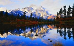 Картинка лес, горы, природа, озеро