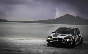 Картинка BMW, Тюнинг, БМВ, Alpina, E38, 740il, arctic camo, camo, wnter