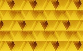 Обои жёлтый, линии, текстура, ромбы