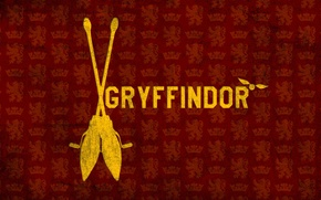 Картинка Гарри Поттер, метла, Harry Potter, Гриффиндор, Gryffindor, снитч