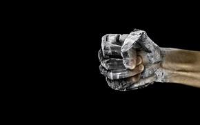 Обои камень, фон, кулак