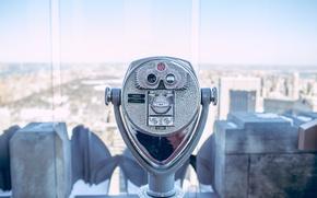 Картинка Manhattan, America, New York, Central Park, New York City, NYC, binoculars, height, USA, United States, …
