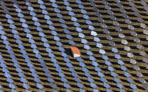 Картинка поле, панорама, Solar Field