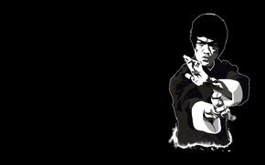 Обои арт, Bruce Lee, актер, Брюс Ли, легенда, человек, учитель, мастер, философия., восточные, единоборства