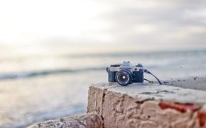 Картинка волны, пляж, камера, waves, beach, canon, camera, канон