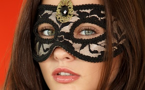 Картинка девушка, лицо, модель, маска, Milena D, Mila K, Michaela Isizzu, Michaela Madarova, Kalena A