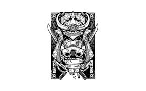 Картинка white, black, card, stormtrooper helmet
